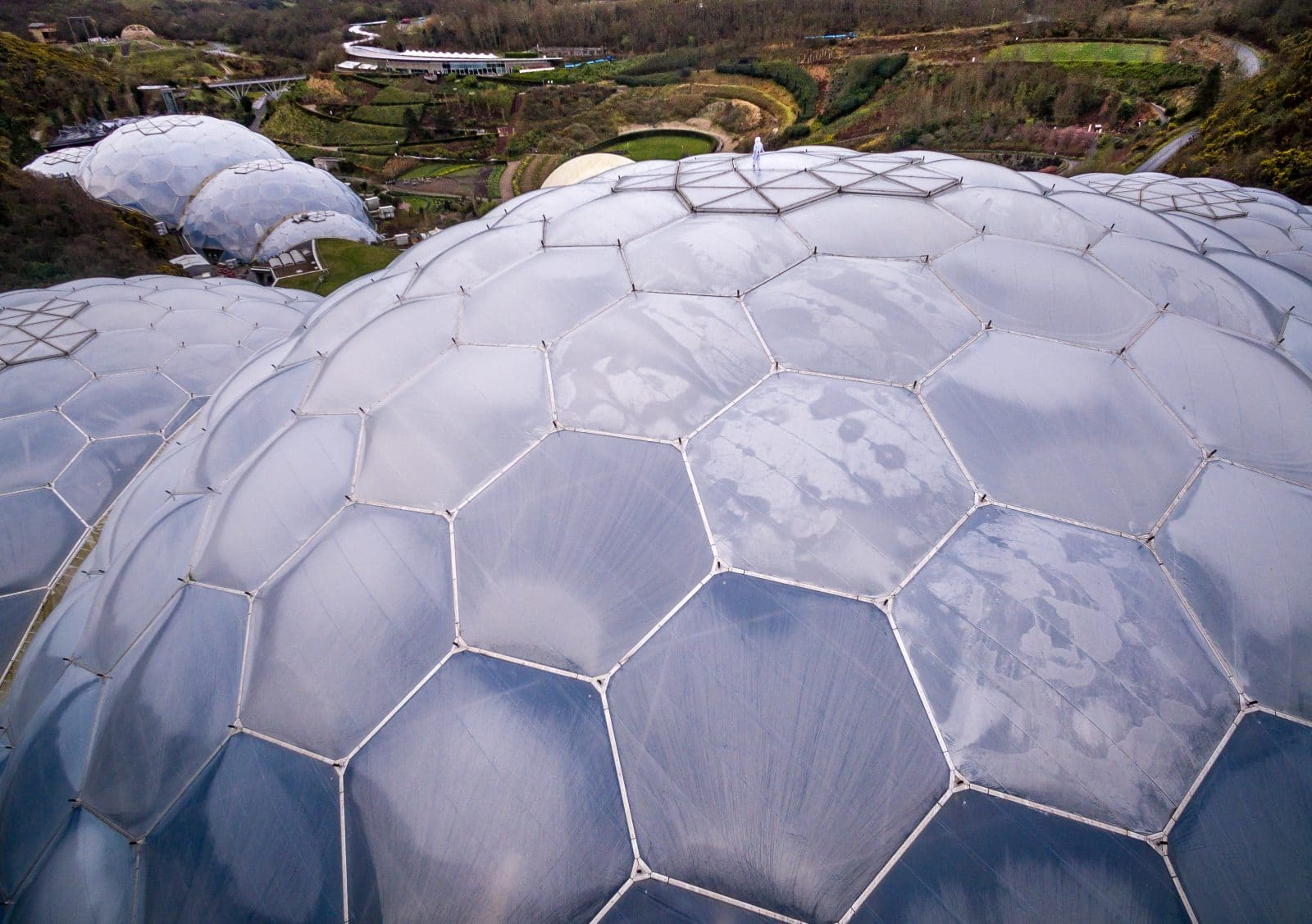 Eden Project, drone Photography, aerial photography in Cornwall, drones cornwall