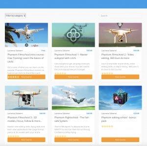 Online Drone Training