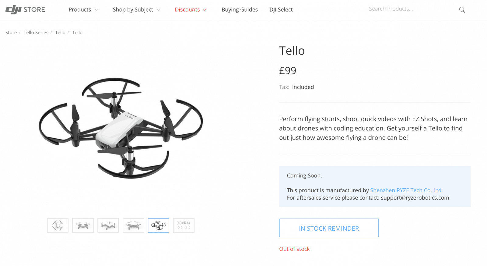 DJI Launch Tello A GBP99 Nano Drone At 2018 Consumer Electronics Show