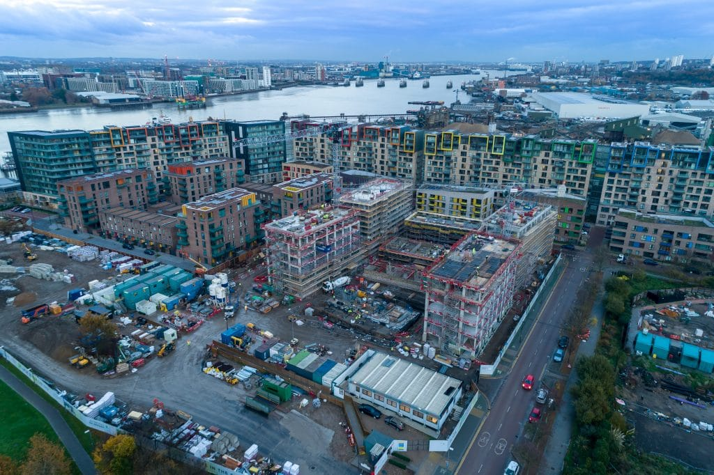construction site aerial Photography